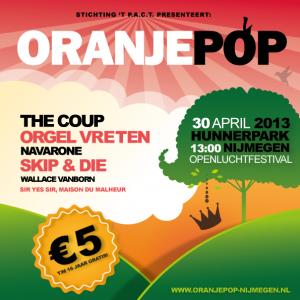 Oranjepop campagnebeeld 2013 vierkant